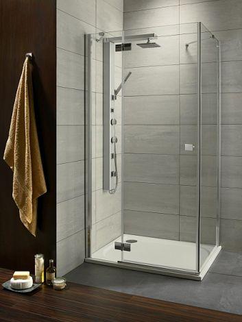 RADAWAY Almatea KDJ Kabina  z drzwiami jednoczęściowymi, drzwi lewe, szkło przejrzyste, 90x90x195cm 32102-01-01NL