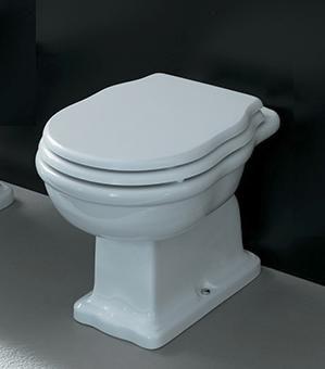 ARTCERAM Hermitage WC stojące białe (odpływ S-do podłogi) 36x55cm HEV0020100