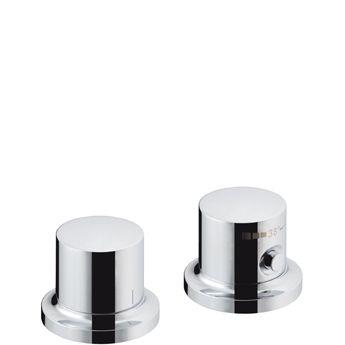 HANSGROHE Axor Massaud Element zewnętrzny do baterii termostatowej 2-otworowej do montażu na brzegu wanny chrom 18480000 +