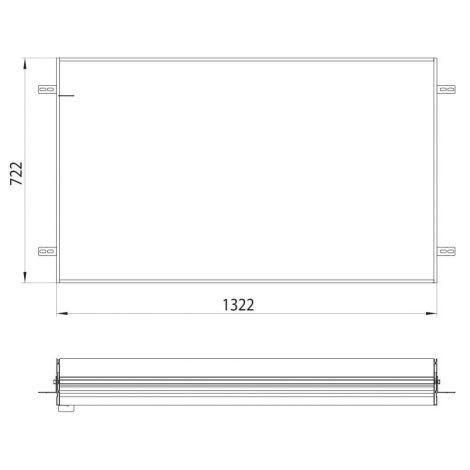 Emco Asis, Podstawowa rama montażowa do podtynkowej szafki z podświetleniem LED 133 cm  949700014 - Towar wykonany pod zamówienie