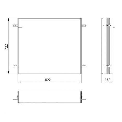 Emco Asis, Podstawowa rama montażowa do podtynkowej szafki 83cm 949700011 - Towar wykonany pod zamówienie