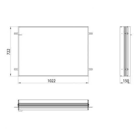 Emco Asis, Podstawowa rama montażowa do podtynkowej szafki z podświetleniem LED 103 cm  949700012 - Towar wykonany pod zamówienie
