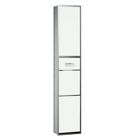 EMCO Asis Moduł podtynkowy na kosmetyki, rama chrom, drzwi optiwhite 972027812 -produkt pod zamówienie