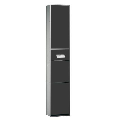 EMCO Asis Moduł podtynkowy na kosmetyki, rama chrom, drzwi czarne szkło 972027912 -produkt pod zamówienie