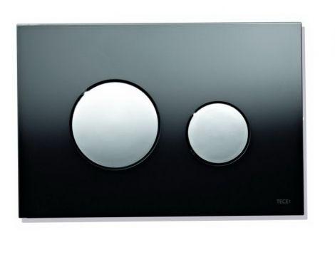 TECE Loop Przycisk spłukujący szkło czarne, przyciski białe 9240654