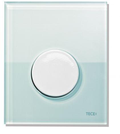 TECE Loop Przycisk spłukujący ze szkła do pisuaru, szkło zielone-przycisk chrom mat. 9242652