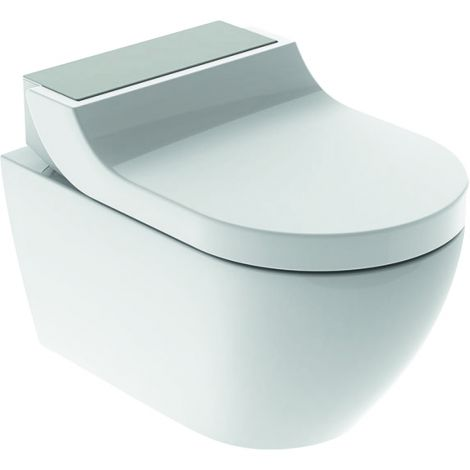 GEBERIT AquaClean Tuma Comfort Urządzenie WC z funkcją higieny intymnej kolor biały / stal nierdzewna szczotkowana  146292FW1 + Oferta do wyczerpania zapasów