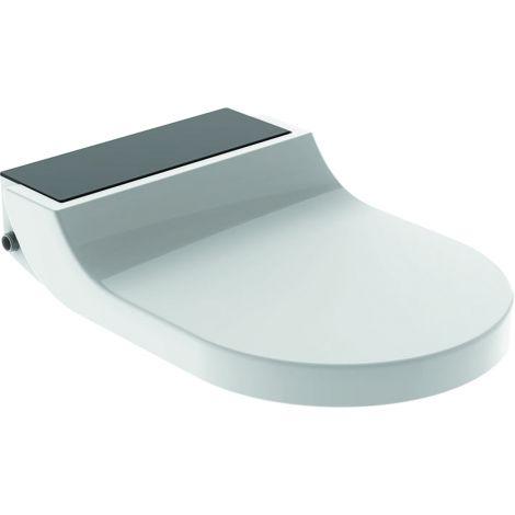 GEBERIT Aquaclean Tuma Comfort deska sedesowa z funkcją myjącą kolor szkło czarne / biały 146272SJ1 + Oferta do wyczerpania zapasów