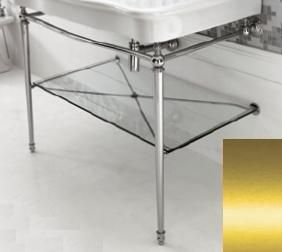 ARTCERAM Hermitage Stelaż pod umywalkę z półką szklaną złoty HEA01773