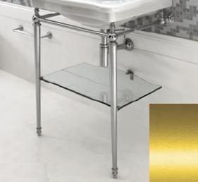 ARTCERAM Hermitage Stelaż pod umywalkę z półką szklaną złoty HEA01573