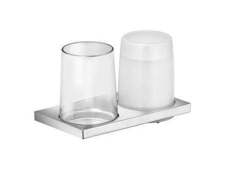 KEUCO Edition 11 Dozownik do mydła z  szklanką z uchwytem  szkło/chrom 11153019000