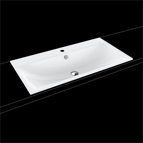 KALDEWEI Silenio Umywalka wpuszczana w blat 900mm x 460mm , z przelewem, biała 907806013001