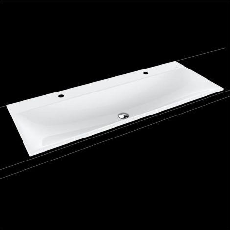 KALDEWEI Silenio Umywalka wpuszczana w blat 1200mm x 460mm , podwójna bez przelewu, biała 907906363001