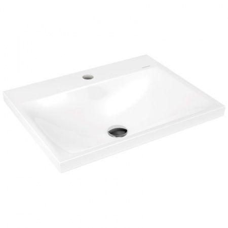KALDEWEI Silenio Umywalka wpuszczana w blat 600mm x 460mm, bez przelewu, biała 907706303001