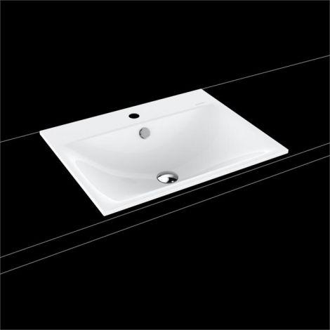 KALDEWEI Silenio Umywalka wpuszczana w blat 600mm x 460mm, z przelewem, biała 907706013001