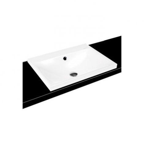 KALDEWEI Silenio Umywalka nablatowa - wpuszczana w blat 900mm x 460mm,  z przelewem, biała 904006013001