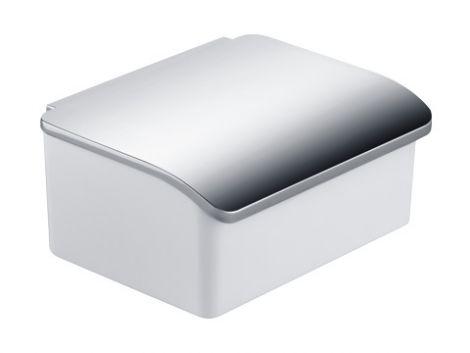 KEUCO Elegance Pojemnik na wilgotne chusteczki, biała porcelana / chrom 11667013000