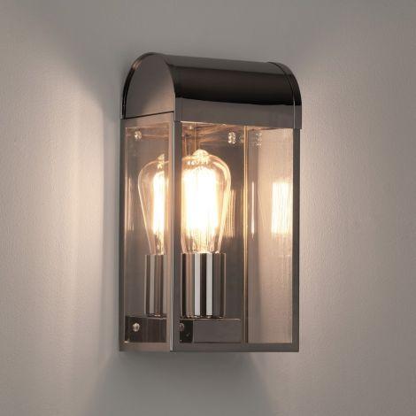 ASTRO LIGHTING Newbury Lampa ścienna zewnętrzna ogród, nikiel polerowany  7863
