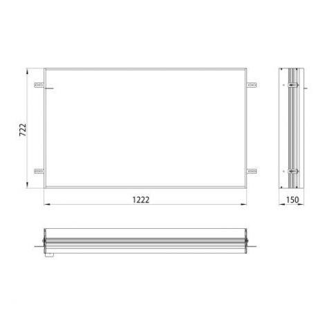 Emco Asis, Podstawowa rama montażowa do podtynkowej szafki z podświetleniem LED 123 cm  949700013 - Towar wykonany pod zamówienie