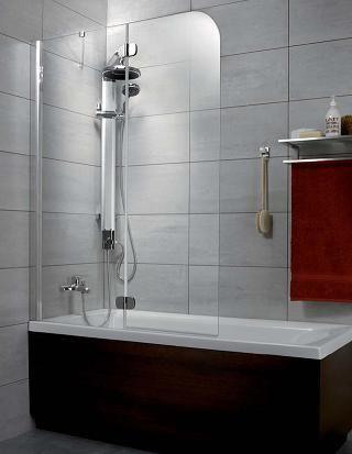 RADAWAY Torrenta parawan nawannowy pojedyńczy PNJ 80x150 cm, lewy, szkło grafitowe 201101-105NL