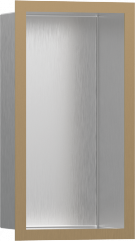 HANSGROHE XtraStoris Individual Wnęka ścienna stal szlachetna szczotkowana, z ramą brąz szczotkowany 30x15x10cm 56094140