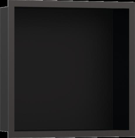 HANSGROHE XtraStoris Individual Wnęka ścienna czarny mat, z ramą czarny chrom szczotkowany 30x30x10cm 56098340