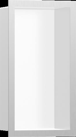 HANSGROHE XtraStoris Individual Wnęka ścienna biały mat, z ramą stal szlachetna szczotkowana 30x15x10cm 56096800