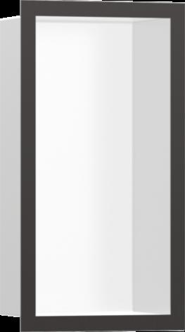 HANSGROHE XtraStoris Individual Wnęka ścienna biały mat, z ramą czarny chrom szczotkowany 30x15x10cm 56096340