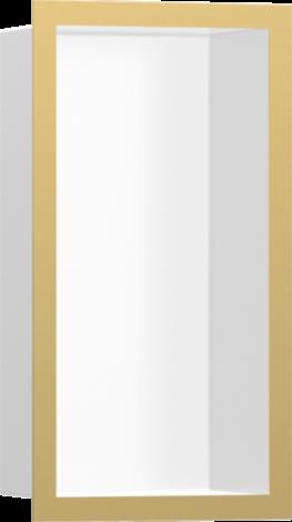 HANSGROHE XtraStoris Individual Wnęka ścienna biały mat, z ramą złoty optyczny polerowany 30x15x10cm 56096990